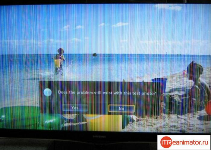 Полосы  на телевизионном экране и причины их появления.